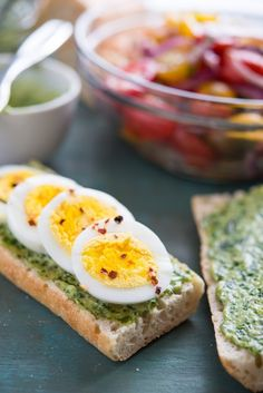 Pesto and Egg Baguette Sandwich