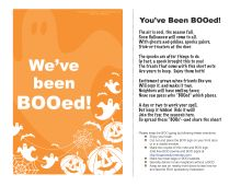 Halloween BOO sign and poem