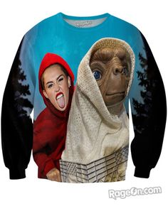 Miley Cyrus ET All Over Print Crewneck Sweatshirt - Rage On! - The World's Largest All-Over Print Online Retailer
