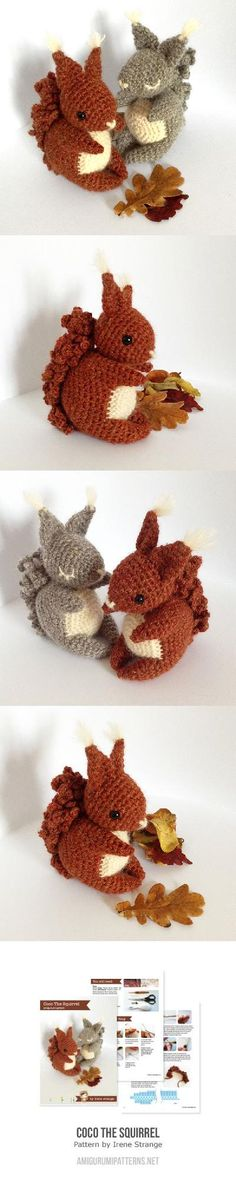 Coco The Squirrel Found at Amigurumipatterns.net