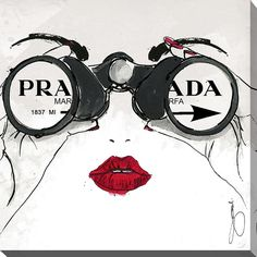 Picture Perfect International By Jodi 'I See Prada' Giclee Print Canvas Wall Art (24 in. x 24 in. x 1.5 in.)