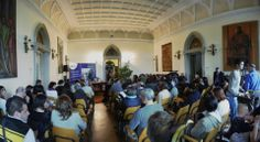 Un panoramica della sala prima dell'inizio della Conferenza