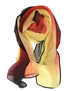 Amazon.com: Scarfand's Light Weight Three Tone Scarf (Red Yellow): Clothing