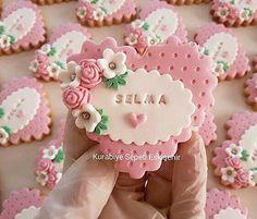 Fondant Cupcake Toppers, Fondant Cookies, Galletas Cookies, Baby Cookies, Cute Cookies, Birthday Cookies, Sugar Cookies, Cupcake Cakes, Tea Party Baby Shower