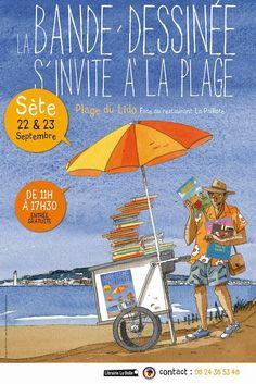 La Bande dessinée s'invite à la plage  1er festival de BD de #Sète les 22 et 23 septembre 2012 sur la Plage du Lido.
