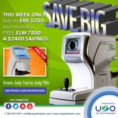 http://usophthalmic.com  Our special of the week, from July 1 to July 7.