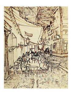 Study for the Cafe Terrace at Night | Vincent Van Gogh