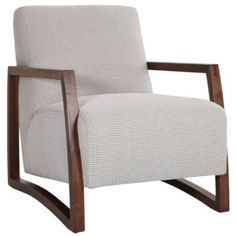 Jonathan Louis Mansfield Wood Accent Chair