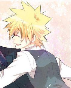 luvdisc is hugging him
