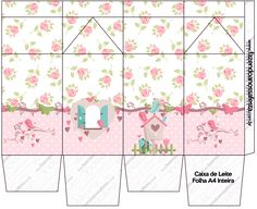 Caixa de Leite Jardim Encantado Provençal Paper Box Tutorial, Bird Birthday Parties, Milk Box, Diy And Crafts, Paper Crafts, Bird Party, Spring Party, Digital Scrapbook Paper, Little Birds