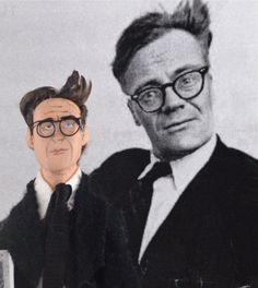 Robert Lowell Poet and Writer Doll Miniature by UneekDollDesigns