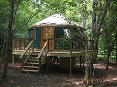 picture inside of yurts homes | Yurt Lodging | New York Tree House Yurts | Eco Travel