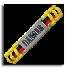 United States Army Rangers serve in designated U.S. Army Ranger units or are graduates from the U.S. Army Ranger School.Paracord bracelet with laser engraved stainless steel plate.
