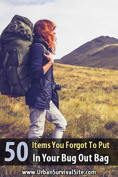 This post is to remind you of any items you would have put in your bug out bag but forgot, and it's to give you some ideas you might not have considered. via @urbanalan