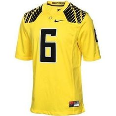 6e6b8d18a New NWT  6 Oregon Ducks Yellow Replica Game Nike Size X-Large XL Football