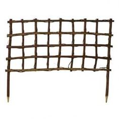 Designed by terrain, this rustic trellis is woven from natural vines. Elongated stakes make it easy to add this low grid to your garden as an ornamental support for climbing roses, or for flowering squash in your vegetable patch. Large Plant Pots, Large Plants, Potted Plants, Grape Trellis, Vine Trellis, Trellis Ideas, Plant Trellis, Trellis Fence, Trellis Design