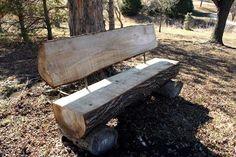 Natural-Recycled-Hardwood-Log-Benches-Custom
