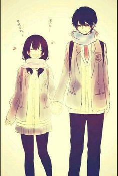 Couple, Anime, Art