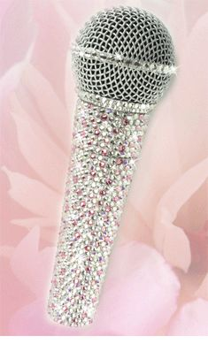 Collection Here Njs Silver Crystal Bling Dazzling Effect Karaoke Party Home Microphone Mic Beautiful And Charming Musical Instruments & Gear