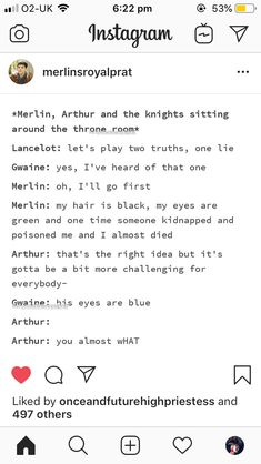 Like Arthur doesn't know what colour Merlin's eyes are! Merlin Show, Merlin Fandom, Merlin Merlin, Merlin Funny, Merlin Memes, Merlin Et Arthur, King Arthur, Fandoms, Bbc