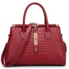 Trendy Crocodile Print and Metallic Design Women s Tote Bag. Leather  HandbagsLeather BagTote HandbagsPurses ... 860931f0fe31