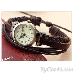 Gentiana stripes retro bracelet watch