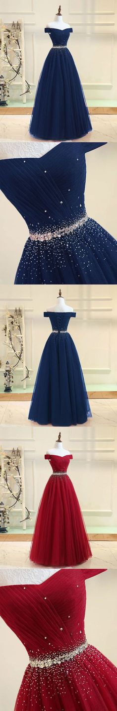 Burgundy tulle off shoulder long prom dress, burgundy evening dress G290#prom #promdress #promdresses #longpromdress #2018newfashion #newstyle #promgown #promgowns #formaldress #eveningdress #eveninggown #2018newpromdress #partydress #meetbeauty #aline #burgundy #tulle #offshoulder #beaded #homecomingdresses