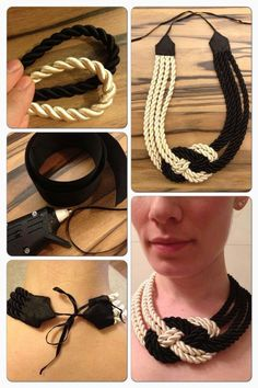 Jewellery Australia as Rope Chain Necklace Yellow Gold 20 Length. Diamond Cut Gold Rope Chain Necklace during Jewellery Gold Bangles even Necklace Organizer Hobby Lobby Rope Jewelry, Fabric Jewelry, Jewelry Crafts, Jewelery, Handmade Jewelry, Mens Chain Necklace, Knot Necklace, Locket Necklace, Gold Rope Chains