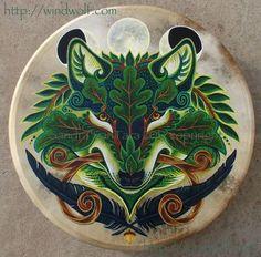 Shamanic drum by windwolf