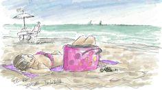 A point,  saignant,  bien cuit,  sur la plage du Petit Travers.