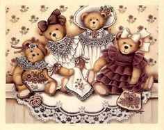 Tatty Teddy, Cute Images, Cute Pictures, Photo Ours, Art D'ours, Tedy Bear, Teddy Bear Cartoon, Etiquette Vintage, Bear Paintings