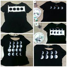 Diy brandy melville moon phase peplum shirt
