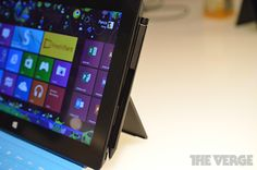 Microsoft Surface Pro (The active input pen snaps magnetically to the side of the tablet)