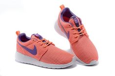 best cheap 64be7 6e50d Nike Roshe One Breeze Femmes The Ciel Sportifs Chaussures Orange Violet  724850-661 Nike