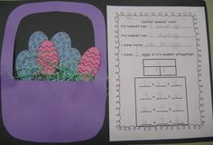 Eggs in a Basket - Fact Family Freebie from First Grade Shenanigans