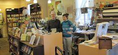Gladin Scott and assistantbuyer Maureen Iverson, Maple Street Bookshop, New Orleans