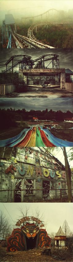 Abandoned Theme Park. Anyone else find this as creepy as I do?<<<No I think it looks fun