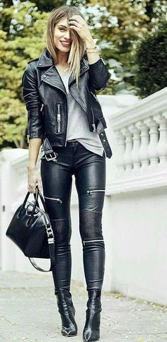 Leather Outfit Collection learn all about jewelry here in this article leather pants Leather Outfit. Here is Leather Outfit Collection for you. Leather Outfit learn all about jewelry here in this article leather pants. Leather Outfit d. Legging Outfits, Leather Leggings Outfit, Leather Jacket Outfits, Faux Leather Pants, Leather Jackets, Leather Purses, Men's Leather, Biker Jackets, Leather Blazer