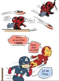 Comics Spideypool y Stony Spideypool, Wattpad, Math Comics, Jungkook Fanart, Great Power, Classic Comics, Marvel Avengers, Comic Strips, Memes