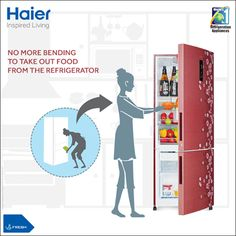 Indian women bend at least 3-4 times a day to access vegetable items from their refrigerator. Haier's BMR- Bottom Mount Refrigerator is going to change that forever. #JhuknaMat