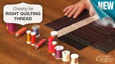 Helpful tips and techniques for choosing the right quilting thread. http://www.nationalquilterscircle.com/video/choosing-the-right-quilting-thread/?utm_source=pinterest&utm_medium=organic&utm_campaign=A219 #learnmorequiltmore #LetsQuilt