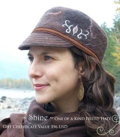 Gift Certificate for a Beautiful Hand Felted Hat / by ElisaShine, $96.00