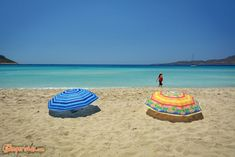 Simos beach at Elafonissos island which is located in southeastern of the Peloponnese, Greece. It lies off the coast of Cape Malea. Rv Campers, Campervan, Beach Mat, Greece, Coast, Outdoor Blanket, Swimming, Camping, Sea