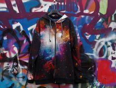 Vaateviidakko: Galaksipaita ja huppari miehelle Diy Clothes, Coats, Handmade, Jackets, Diy Clothing, Down Jackets, Wraps, Hand Made, Coat