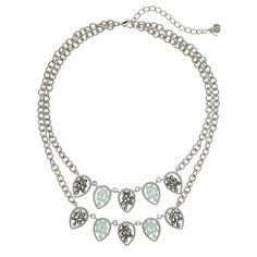Simply Vera Vera Wang Bead Teardrop Multistrand Necklace