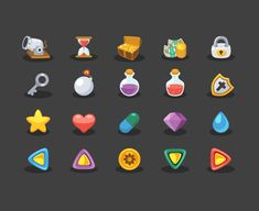 Game Elements Icons Icons AI Flat Free Games Graphic Design Icon Resource SVG Vector