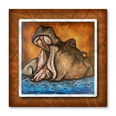 'The River Horse' by Brittney Hallowell Painting Print Plaque