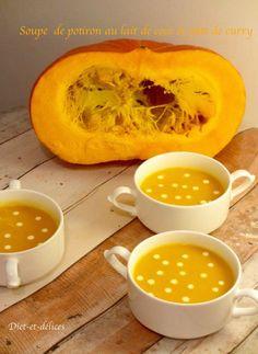 Soupe de potiron au lait de coco et curry