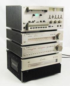 RARE Mitsubishi Audio Systems Microcomponents Set M-A01,M-P01,M-F01,M-T01   Consumer Electronics, Vintage Electronics, Vintage Audio & Video   eBay!