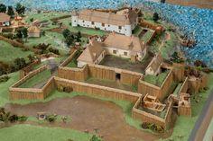 Le Fort Saint-Louis, détail de la maquette « La ville de Québec en 1635